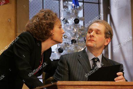 Helen Schlesinger ( Opposition Whip ) and Robert Bathurst ( Alastair )