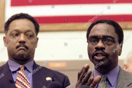 "Jackson Carter, Jesse Jackson The Rev. Jesse Jackson, left, listens as Rubin ""Hurricane"" Carter, the former middleweight boxer, speaks during a news conference inside the North County Correctional Facility in Castaic, Calif. Carter, who spent almost 20 years in jail after twice being convicted of a triple murder he denied committing, died at his home in Toronto, according to long-time friend and co-accused John Artis. He was 76"