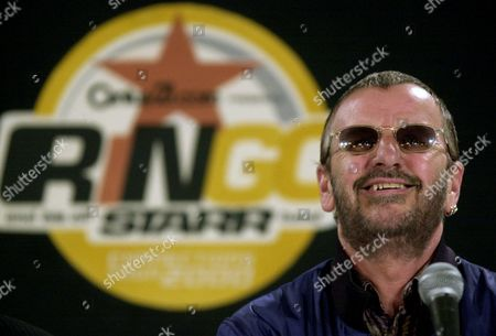 STARR Ringo Starr answers questions about his sixth All-Starr band, at a news conference in New York. He announced that the newest All Starr band will begin touring May 12 in Atlantic City, N.J., as part of the Connections Tour 2000. The band's lineup includes Cream bassist and lead singer Jack Bruce, The Raspberries' Eric Carmen, guitar virtuoso and songwriter Dave Edmunds, multi-instrumentalist Mark Rivera and former Free drummer Simon Kirke