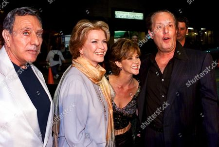 """BLATTY Stars of """"The Exorcist,"""" Ellen Burstyn, second from left, and Linda Blair, second from right, join director William Friedkin, right, and producer, author of the novel and the Oscar-winning screenplay, William Peter Blatty, left, at a special screening of the re-released Warner Bros. film with re-mastered sound and restored original footage, in Los Angeles"""