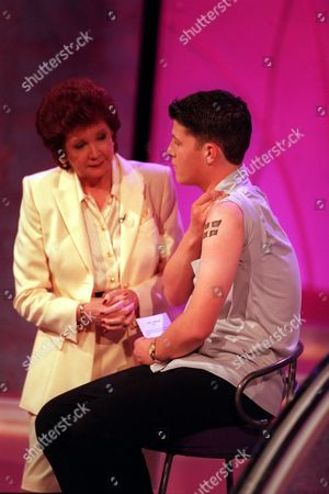 'Blind Date' - Luke, a Student from Cornwall shows Cilla Black his tattoo.