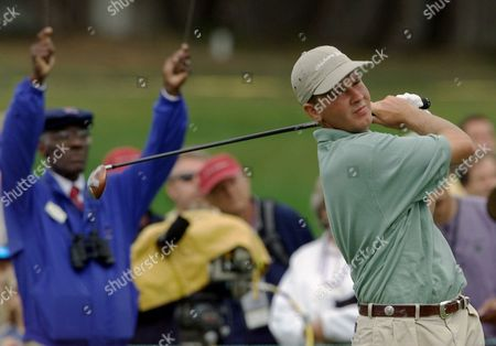HAAS Hunter Haas of Norman, Okla., follows his drive on the fourth hole of the Pebble Beach Golf Links during his quarterfinal match against Charlie Woerner at the U.S. Amateur in Pebble Beach, Calif., . Haas, who won the match 2 and 1, will face Sung Yoon Kim in the semifinals