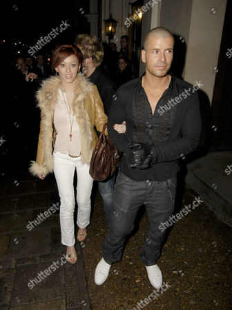 Natasha Hamilton leaving with fiance Riad Erraji