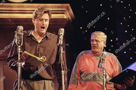 "Bill Pullman and Jerry Van Dyke Actor Bill Pullman and Jerry Van Dyke exchange lines at the final rehearsal of ?It?s a Wonderful Life ? the Radio Play,"" in Pasadena, Calif. The play is a benefit for the Elizabeth Glaser Pediatric AIDS Foundation"