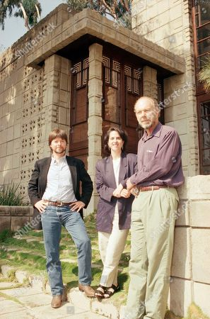 Eric Lloyd Wright, Ken Burns, Lynn Novick Eric Lloyd Wright, right, grandson of famed architect Frank Lloyd Wright, is shown with filmmaker Ken Burns, left, and Lynn Novick at the Wright-designed Storer House in Los Angeles? Hollywood district