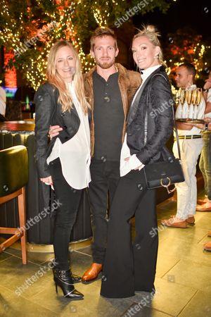 Astrid Harbod, Jacobi Anstruther-Gough-Calthorpe and Olivia Buckingham wearing Ralph Lauren