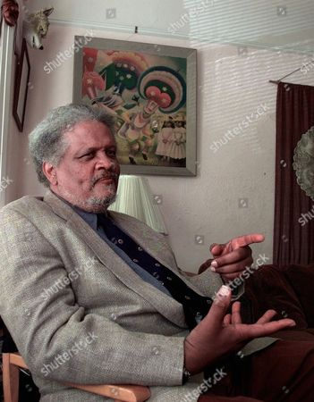 Stock Picture of AWARD Novelist, essayist and poet Ishmael Reed gestures in his office at his home in Oakland, Calif., Monday afternoon, after he won the annual MacArthur Fellowship Award. The innovative black writer was awarded $355,000