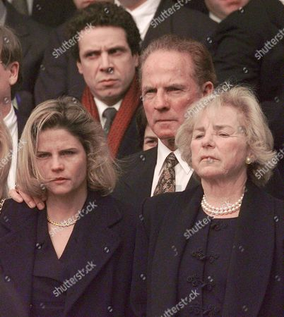 KENNEDY CUOMO GIFFORD Ethel Kennedy, right, mother of Michael Kennedy, stands outside Our Lady of Victory Church, in Centerville, Mass., as the casket of her son is loaded into a hearse. Michael Kennedy's wife Vicki, left, is seen with her father, Frank Gifford, center. Andrew Cuomo can be seen behind. Kennedy was killed Dec. 31, 1997, in a skiing accident in Aspen, Colo