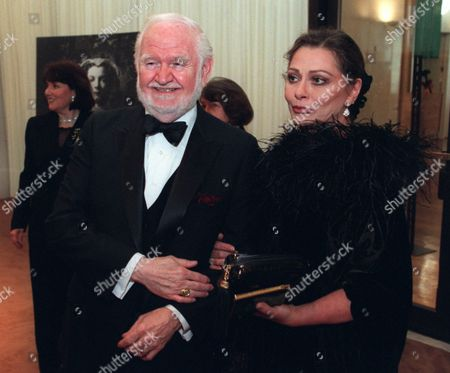 "Stock Picture of PROSKEY ASHLEY Character actor Robert Prosky, left, poses with Liz Ashley during a reception at the Helen Hayes Awards at the Kennedy Center in Washington. Prosky was scheduled to receive the annual American Express Tribute later in the evening. The award was created in 1986 as a salute to those who have made ""profound and lasting"" contributions in the performing arts"