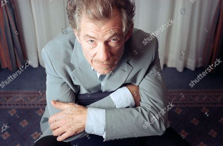 """Actor Ian McKellen, star of the film """"Gods and Monsters,"""" poses in New York, . While the theater will always be his first love, the foremost classical stage actor of his generation is embracing the 20th century's highest-profile acting medium, film, with two movies now and another about to be released"""