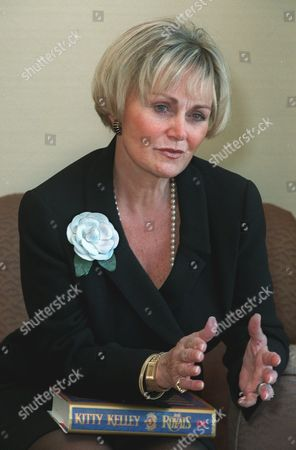 KELLEY Author Kitty Kelley gestures during an interview with the Associated Press . in New York. Kelley, whose unauthorized biographies of Nancy Reagan and Frank Sinatra stirred controversy in the United States, turns her attention to Britain's House of Windsor in ''The Royals