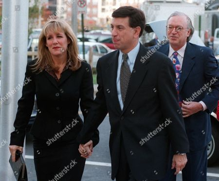 ALBERT Sportscaster Marv Albert, with his fiancee Heather Faulkiner and his attorney Roy Black, arrives at the courthouse, in Arlington, Va., to face sentencing on charges of assault and battery