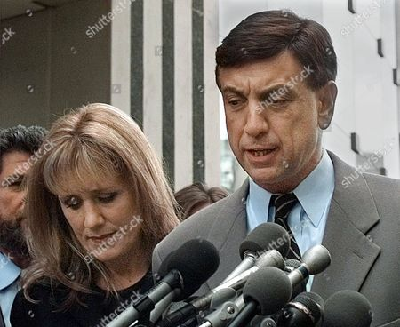 ALBERT FAULKINER NBC sportscaster Marv Albert, accompanied by his fiancee Heather Faulkiner, meets reporters outside court in Arlington, Va. after pleading guilty to assault and battery charges. With the plea, prosecutors agreed to drop a charge of forcible sodomy