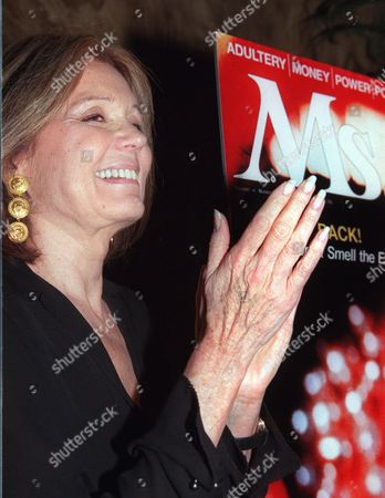 STEINEM Feminist icon Gloria Steinem appears at a party to celebrate the relaunch of Ms. Magazine in New York . After ceasing publication for the second time in its 27-year history, Ms. magazine is coming back yet again, this time owned by a consortium of women, including Steinem who co-founded the magazine, Walt Disney's grand-niece Abby Disney, and Alix L.L. Ritchie, publisher of a weekly newspaper