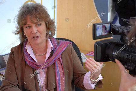 Author Minette Walters takes part in a reading event as part of World Book Day