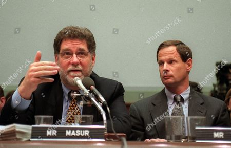 MASUR TASH Actor Richard Masur, left, testifies on Capitol Hill before the House Judiciary Committee hearing on preserving First Amendment rights against protecting individuals' privacy rights. Paul Tash, executive editor of the St. Petersburg Times looks on at right