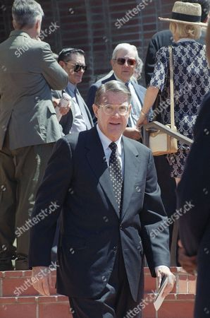 Peter O?Malley Former Los Angeles Dodgers owner Peter O?Malley leaves St. Martin of Tours Roman Catholic Church following a funeral Mass, in the Brentwood district of Los Angeles. Hundreds of mourners from the sports and entertainment world paid their respects to Murray, who died of cardiac arrest on Sunday, August 16