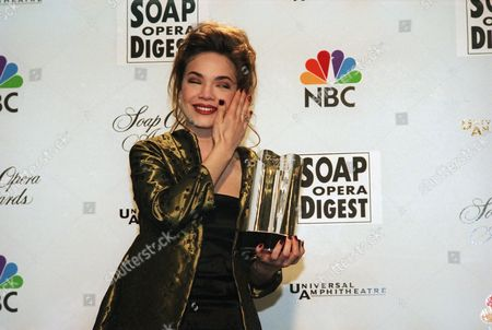 Rebecca Herbst General Hospital?s ?Liz?, Rebecca Herbst, wipes a tear of joy from her eye after being named ?Outstanding Younger Leading Lady? at the 15th Annual ?Soap Opera Digest Awards? on in Universal City, California. Her series won the Favorite Show selection for the third year in a row