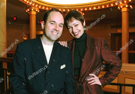 """Composer Stephen Flaherty and lyricist Lynn Ahrens pose at New York's Ford Center for the Performing Arts, in New York. A musical stage adaptation of the 1997 animated musical film """"Anastasia"""" will land on Broadway during the 2016-17 season and will reunite much of the creative team behind """"Ragtime"""" _ book writer Terrence McNally, composer Stephen Flaherty and lyricist Lynn Ahrens"""
