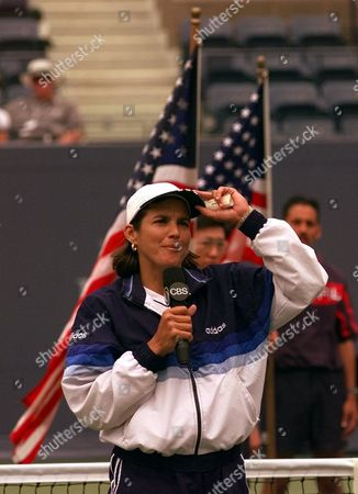FERNANDEZ Gigi Fernandez, of Aspen, Colo., announces her retirement from tennis after Natasha Zvereva, of Belarus, and Fernandez lost to Lindsay Davenport, of Newport Beach, Calif., and Jana Novotna, of the Czech Republic, in the women's doubles finals at the U.S. Open in New York