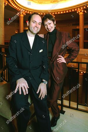 """RAGTIME Composer Stephen Flaherty and lyricist Lynn Ahrens pose at New York's Ford Center for the Performing Arts, where their new musical """"Ragtime"""" opens Jan. 18. The show is based on the best-selling novel by E. L. Doctorow"""