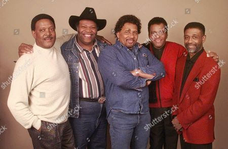 """Stock Photo of FRANC The three-CD package """"From Where I Stand"""" highlights the contributions blacks have made to country music. Five of the artists in the package are pictured during a gathering in Nashville, Tenn. on . From left, are Dobie Gray, Big Al Downing, Aaron Neville, Charlie Pride and Cleve Francis"""