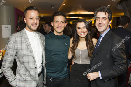Paul Taylor-Mills (Producer), Jonathan Bailey (Jamie), Samantha Barks (Cathy) and Jason Robert Brown (Author/Music/Director)