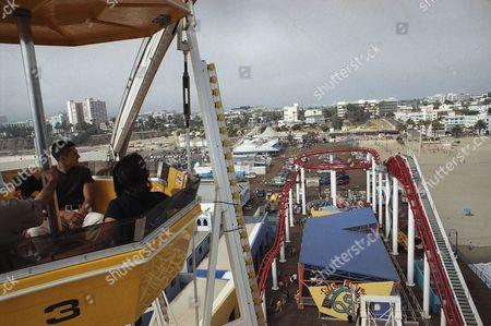 Editorial photo of Amusement Park Calif. ferries wheel, Santa Monica, USA
