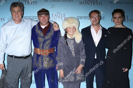 Tom Bernard, Sony Pictures Classics co-president, Nurgaiv Rys, Aisholpan Nurgaiv, Otto Bell, director and Daisy Ridley