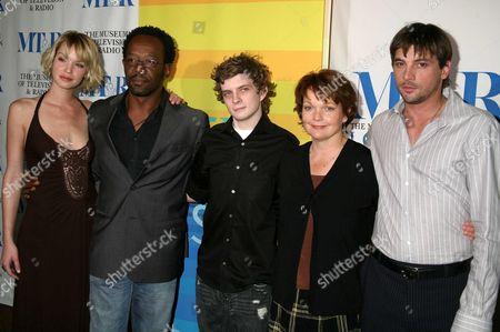 "The Cast of ""Jericho"": Ashley Scott, Lennie James, Erik Knudsen, Pamela Reed and Skeet Ulrich"