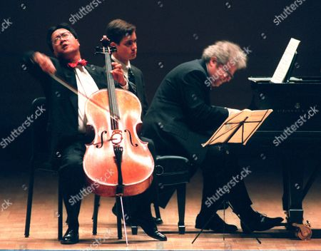 MA Cellist Yo-Yo Ma, left, and pianist Emanuel Ax perform music by Beethoven during an afternoon performance at Carnegie Hall in New York . The concert celebrates the 105th anniversary of Carnegie Hall, which opened May 5, 1891