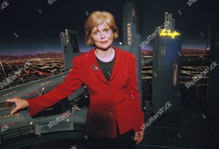 Stock Photo of Former news anchor Carol Marin poses after appearing at the Late Show with Tom Snyder on CBS Television on in Los Angeles. Marin resigned from Chicago?s NBC-affiliate WMAQ-TV, Channel 5, after the station signed talk show host Jerry Springer as a commentator