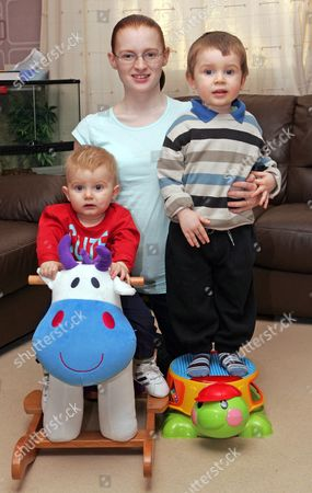 Kelly with her two children Michael (1) and Reece (2)
