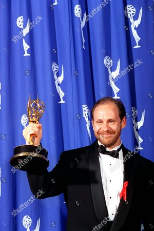 "SACKHEIM Director Daniel Sackheim holds his Award at the 46th Primetime Emmy Awards in Pasadena, Calif., on . Sackheim was honored for his direction in the television series ""NYPD Blue"