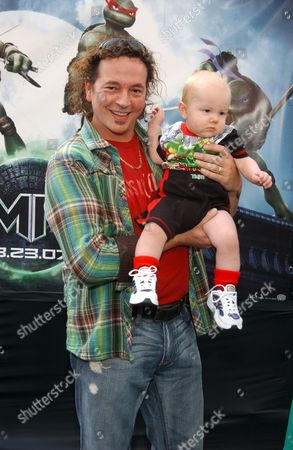 Kevin Eastman and child