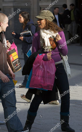 X-Factor star Leona Lewis off shopping in Cardiff City Centre with David Heath from Eton Road