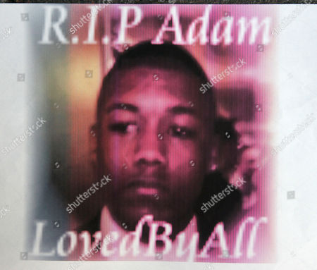 Stock Image of Adam Regis, nephew of the runner John Regis who was stabbed to death in east London.
