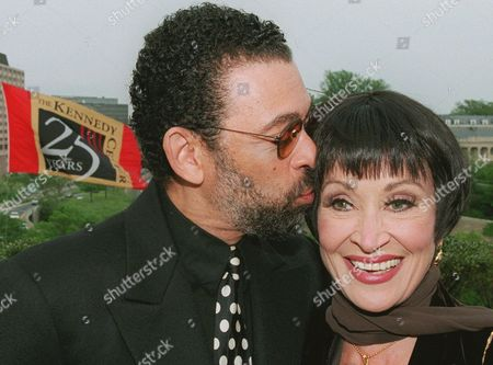 RIVERA HINES Tony Award-winning actress Chita Rivera, right, is congratulated by dancer Maurice Hines prior to being honored at the 12th annual Helen Hayes Awards ceremony at the Kennedy Center in Washington