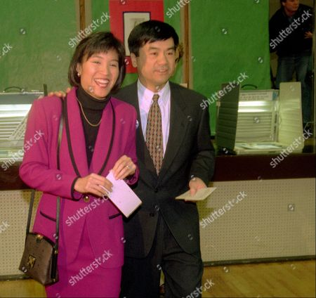 LOCKE Washington candidate for governor Democrat Gary Locke, and his wife, Mona Lee, finish voting, in Seattle. Locke faces Republican Ellen Craswell for the state's top job