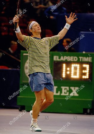 Luke Jensen Luke Jensen reacts to a missed shot during the second set of his second round match against Richey Reneberg at the Comcast U.S. Indoor Tennis Championship in Philadelphia, Pa., . Jensen lost to Reneberg in straight sets 7-5, 7-5