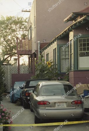 This is an exterior view of Margaux Hemingway's apartment, (upstairs unit in back of the driveway), on Fraser St. in Santa Monica, California seen on . Hemingway's body was found there Monday by a laborer after concerned friends had not heard from her since last Friday
