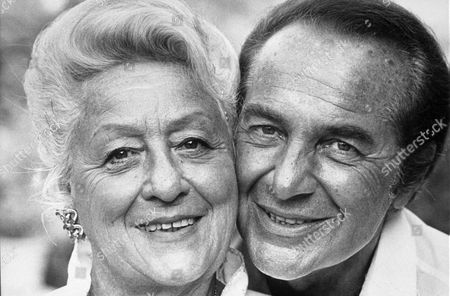 Stock Picture of ROSSANO BRAZZI WITH HIS WIFE