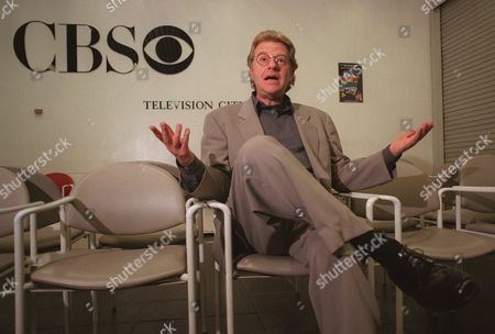 """Stock Image of SPRINGER Talk show host Jerry Springer speaks shortly before his appearance on """"The Late Show With Tom Snyder"""" at CBS Television City in Los Angeles . Springer is scheduled to begin work Monday as a commentator on WMAQ-TV in Chicago where longtime WMAQ anchor Carol Marin has resigned, calling Springer,"""" the worst television has to offer"""