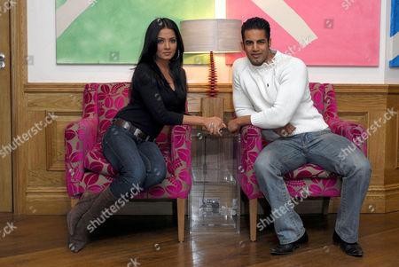 Stock Photo of Bollywood Indian actress Celina Jaitley and British born Indian actor Upen Patel