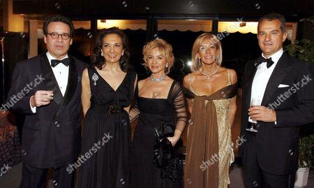 Pietro Albanese, Alberto Repossi, Alberta Ferretti, Countess Monica Agusta and Leonardo Ferragamo