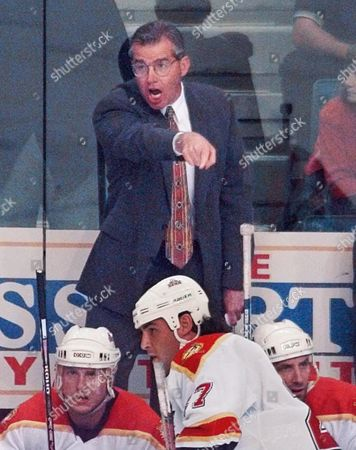 MACLEAN Florida Panthers' head coach Doug MacLean makes a point to referee Don Koharski during Game 2 of their Eastern Conference playoff against the New York Rangers, in Miami. The Rangers defeated the Panthers 3-0 to tie the series 1-1