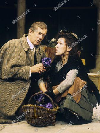 Roy Marsden (Henry Higgins) and Carli Norris (Eliza Dolittle)