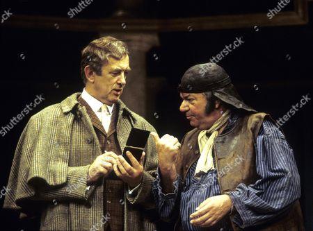 Roy Marsden (Henry Higgins) and Michael Elphick (Dolittle)