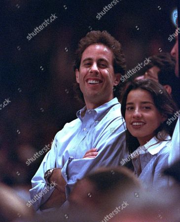 SEINFELD LONSTEIN Comedian Jerry Seinfeld is seen at a sporting event in New York on with friend Shoshanna Lonstein