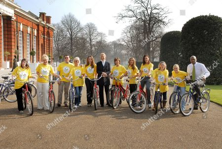 Center Parcs Pedal with the Parcs Launch for Sparks. The official announcement of Pedal with the Parcs, a national cycling event, to raise hundreds of thousands of pounds for two chosen charities Sparks and The National Byway. Fay Ripley, Denise Welch, Robert and Babs Powell, Amanda Holden, Princess Michael of Kent, Lynda Bellingham, ?, Linzi Stoppard, Lisa Rogers, Suzanne Shaw and ?